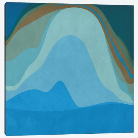 Modern Art- Blue Planet Canvas Print #MA119} by 5by5collective Art Print