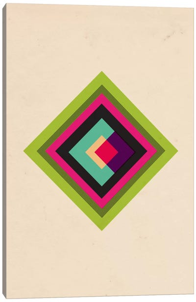 Mid Century Modern Art - Diamond Color Composition (After Kandinsky) Canvas Print #MA11
