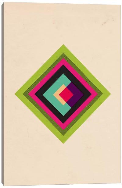 Mid Century Modern Art - Diamond Color Composition (After Kandinsky) Canvas Art Print