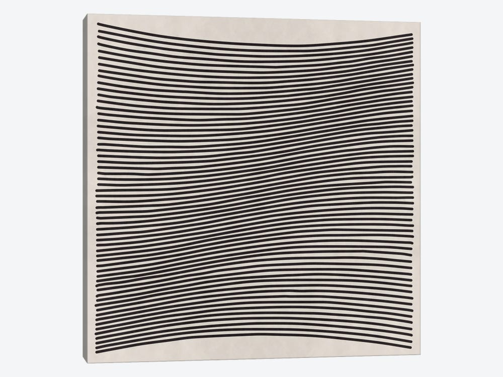 Modern Art- Wavy Lines by 5by5collective 1-piece Art Print