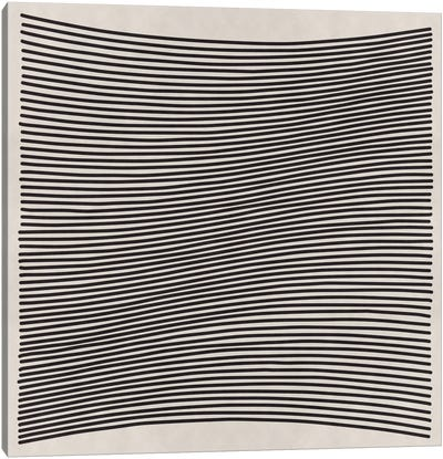 Modern Art- Wavy Lines Canvas Art Print