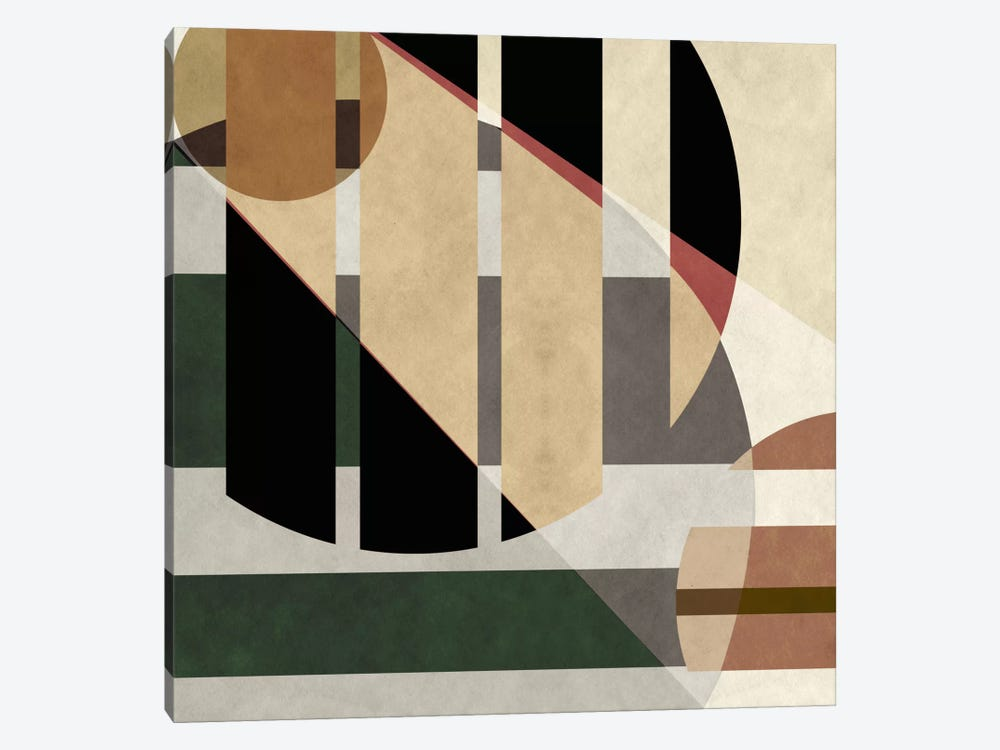 Modern Art- Geometric Shapes by 5by5collective 1-piece Canvas Art