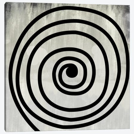 Mid Century Modern Art- Black Swirl Canvas Print #MA129} by 5by5collective Canvas Wall Art