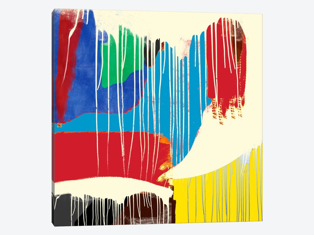 Modern Art- Weeping Colors by 5by5collective 1-piece Canvas Artwork