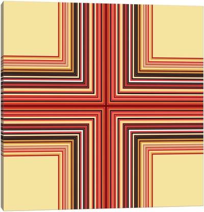 Mid Century Modern Art- Geometric Pattern Cross Canvas Art Print