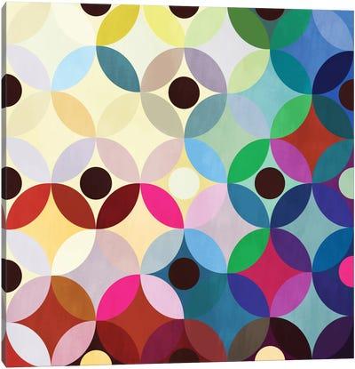 Mid Century Modern Art- Circular Motion Canvas Print #MA13