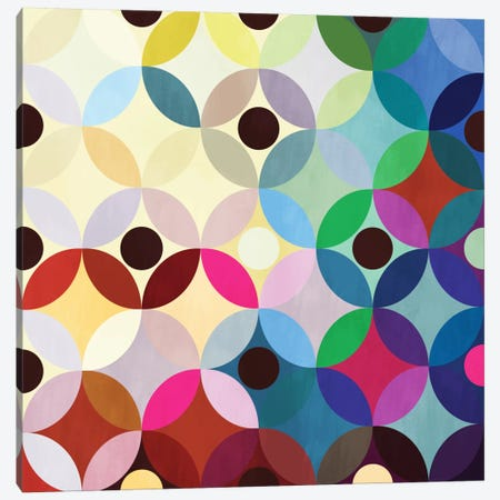 Mid Century Modern Art- Circular Motion Canvas Print #MA13} by 5by5collective Canvas Artwork