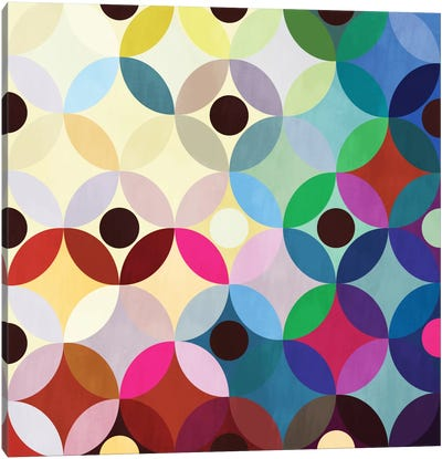 Mid Century Modern Art- Circular Motion Canvas Art Print
