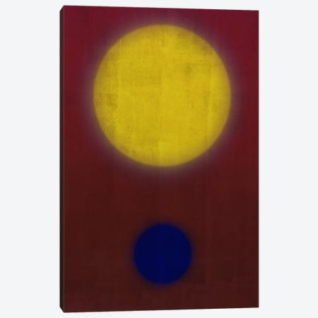 Modern Art- Earth & Sun Canvas Print #MA141} by 5by5collective Canvas Wall Art
