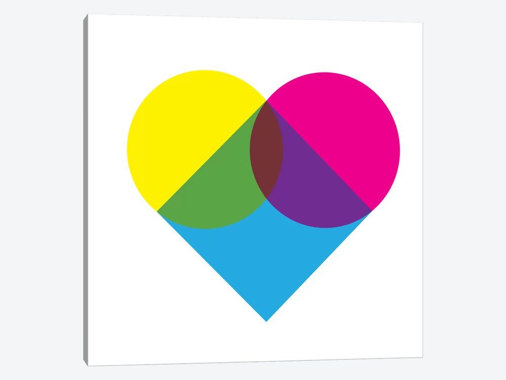 Modern Art- Fluorescent Heart Diagram by 5by5collective 1-piece Canvas Artwork
