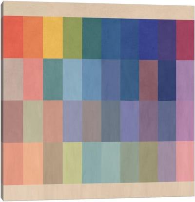 Modern Art- Watercolor Wheel Canvas Art Print