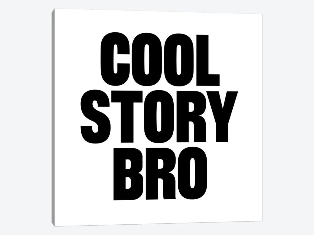 Modern Art- Cool Story Bro by 5by5collective 1-piece Canvas Art