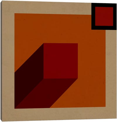 Modern Art- Red Prism Canvas Art Print