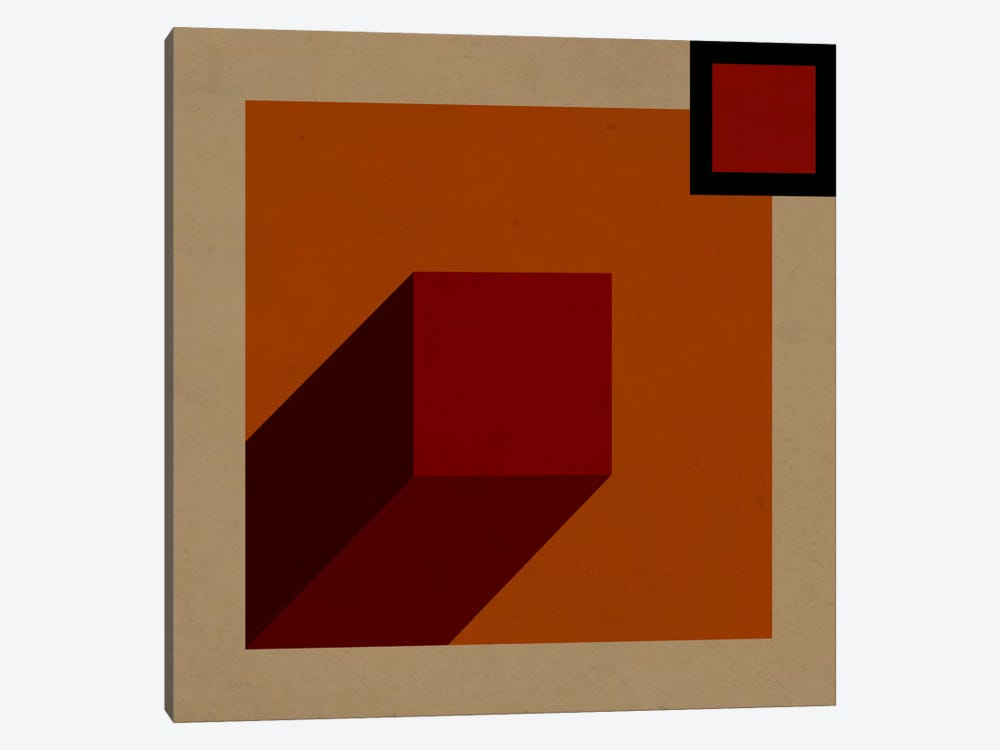 Modern Art- Red Prism by 5by5collective 1-piece Canvas Print
