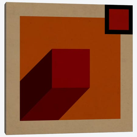 Modern Art- Red Prism Canvas Print #MA149} by 5by5collective Canvas Art