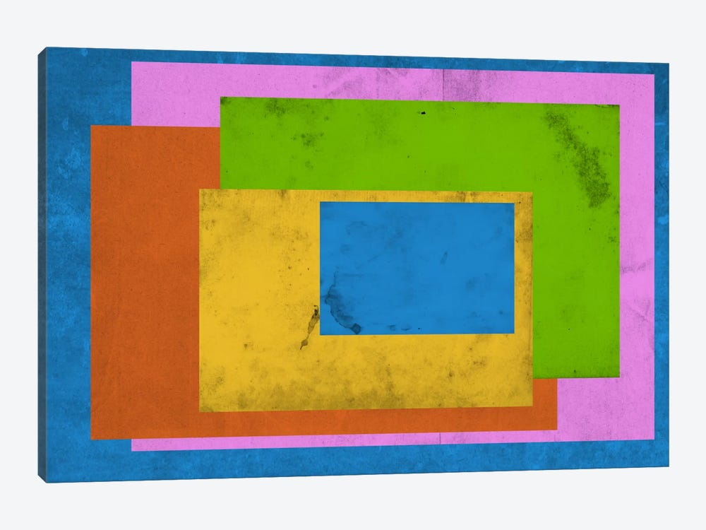 Modern Art - Homage to the Rectangle (After Albers) by 5by5collective 1-piece Canvas Art