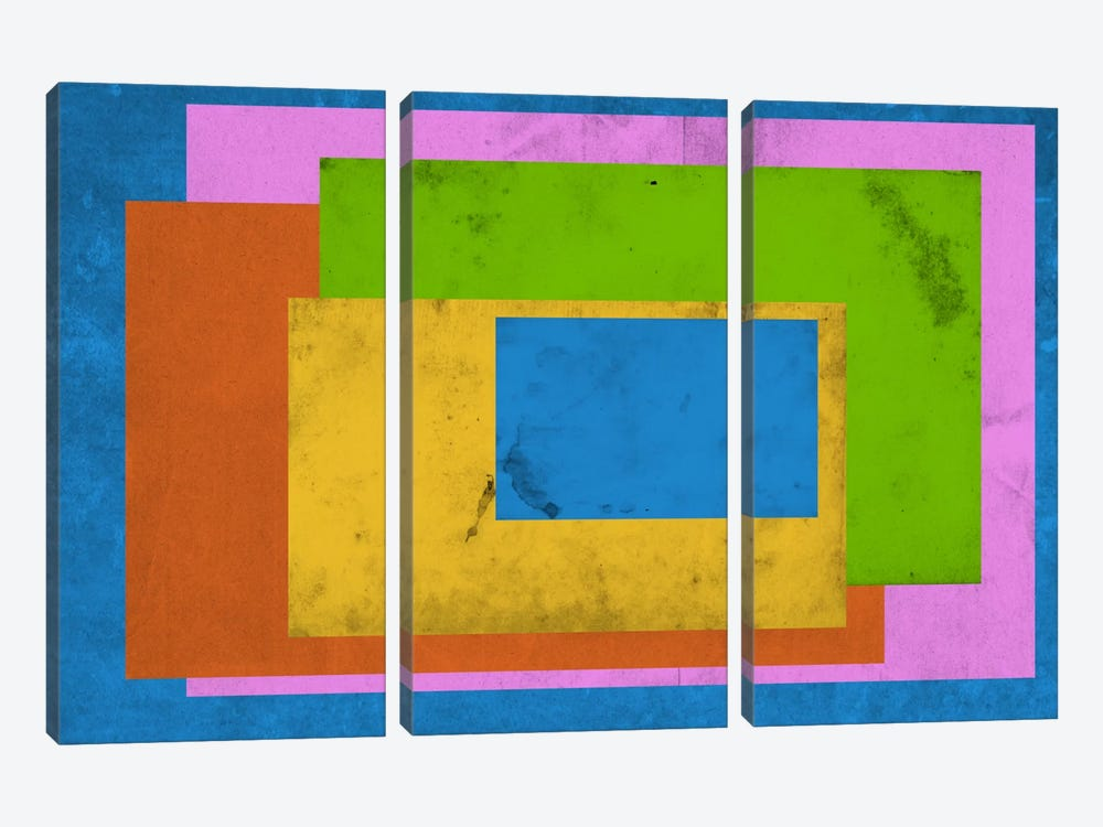 Modern Art - Homage to the Rectangle (After Albers) by 5by5collective 3-piece Canvas Wall Art