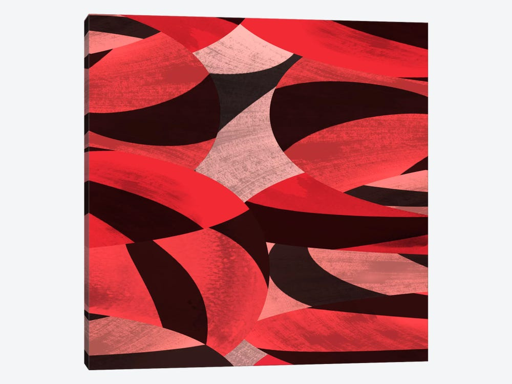 Modern Art- Abstract Petals by 5by5collective 1-piece Canvas Art Print