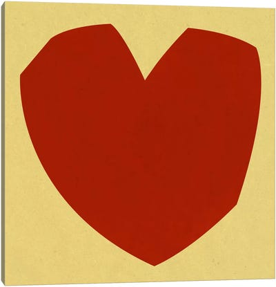 Modern Art- Cut-Out Love Canvas Print #MA168