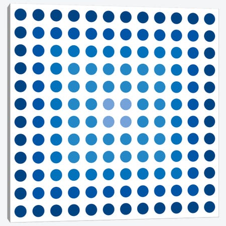 Modern Art- Faded Navy Dots Canvas Print #MA18} by 5by5collective Canvas Artwork
