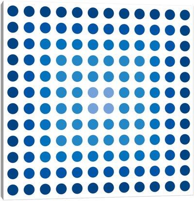Modern Art- Faded Navy Dots Canvas Art Print