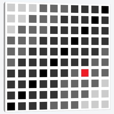 Modern Art- Tile Art Cuadrados Opt en Gris Canvas Print #MA19} by 5by5collective Canvas Wall Art