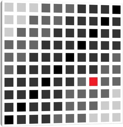 Modern Art- Tile Art Cuadrados Opt en Gris Canvas Art Print