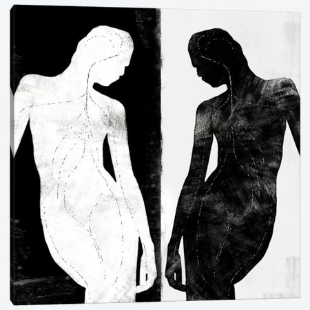 Modern Art- Contrasting Silhouette Figure Canvas Print #MA1} by 5by5collective Canvas Artwork