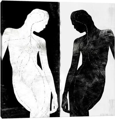 Modern Art- Contrasting Silhouette Figure Canvas Art Print