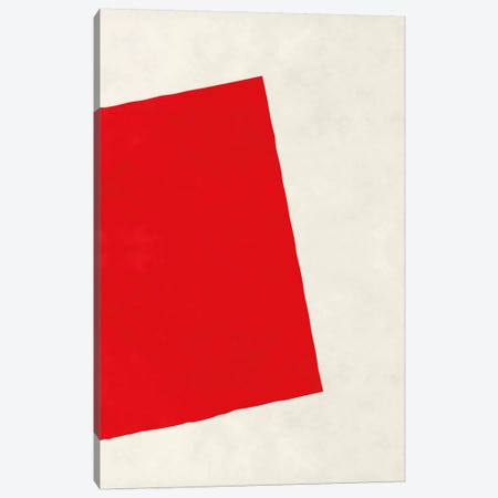 Modern Art - Red Square (After Albers) Canvas Print #MA205} by 5by5collective Canvas Art