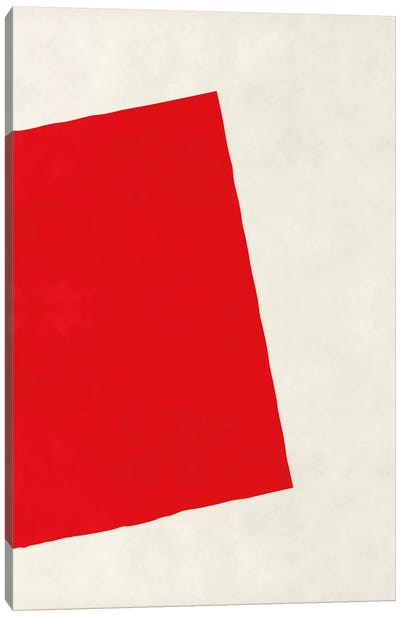 Modern Art - Red Square (After Albers) Canvas Art Print