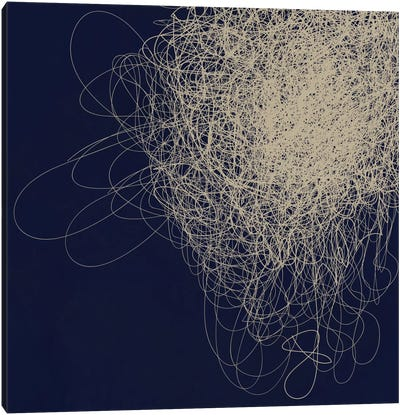 Modern Art- String Cluster Canvas Art Print