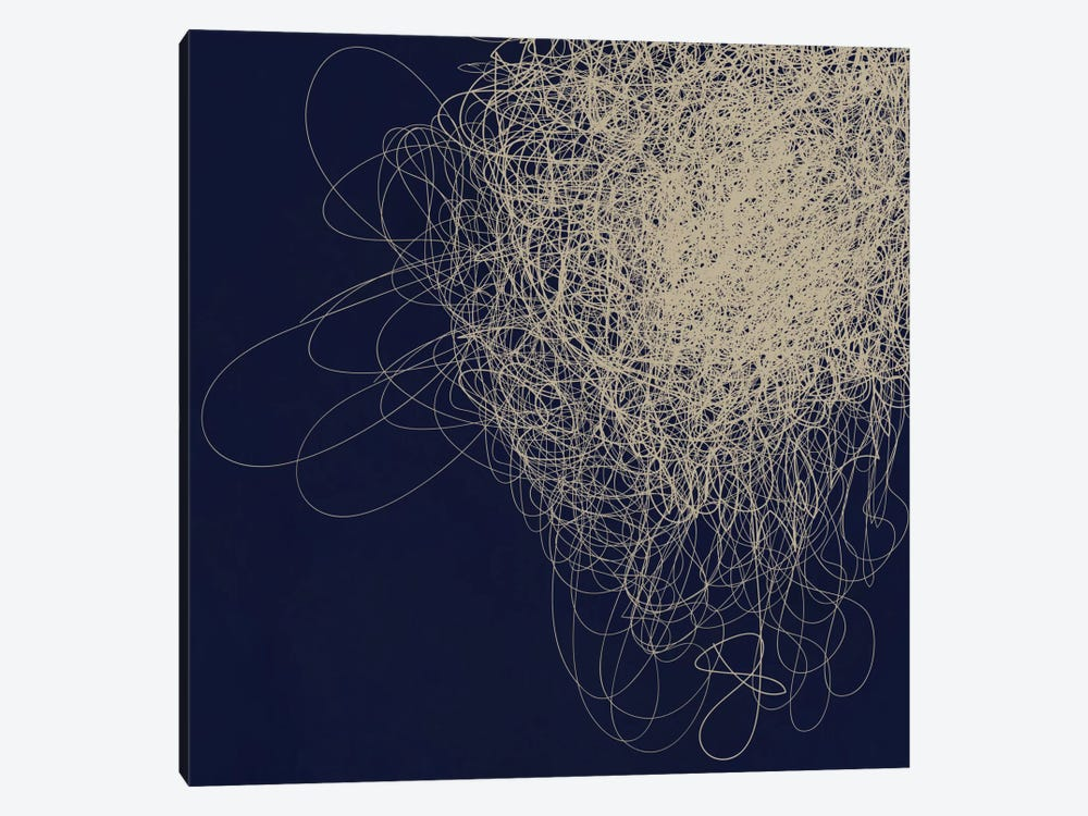 Modern Art- String Cluster by 5by5collective 1-piece Canvas Wall Art
