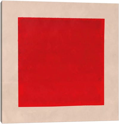 Modern Art- Red Square Complete (After Albers) Canvas Art Print