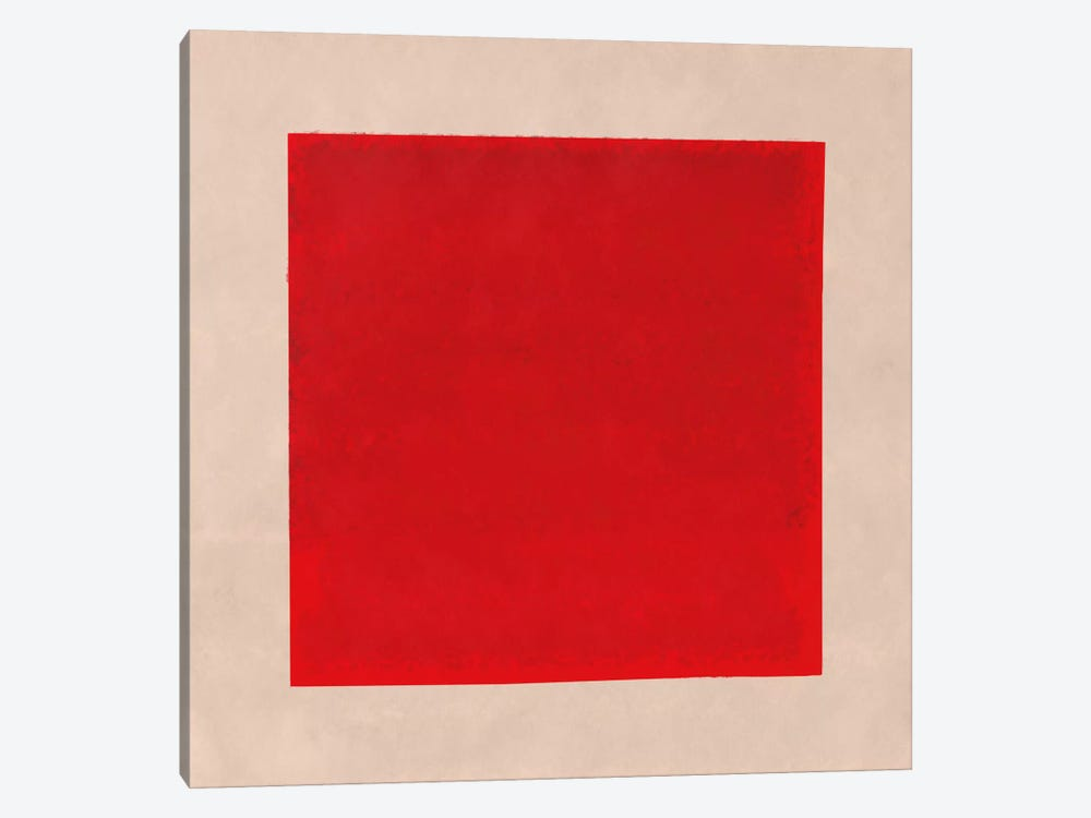Modern Art- Red Square Complete (After Albers) by 5by5collective 1-piece Canvas Print