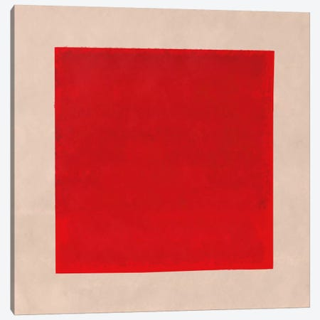 Modern Art- Red Square Complete (After Albers) 3-Piece Canvas #MA216} by 5by5collective Canvas Art Print
