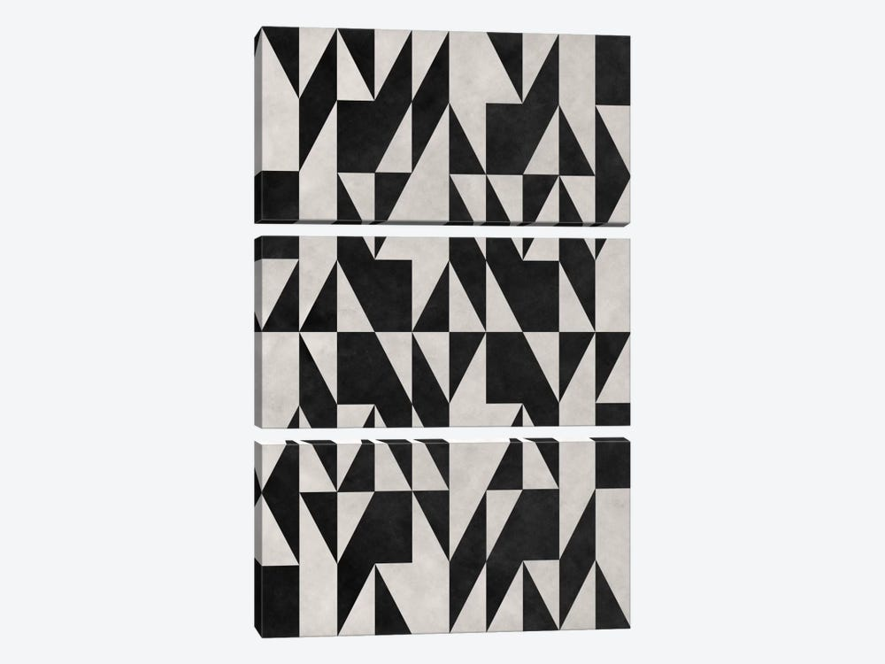 Modern Art - Psicodelia by 5by5collective 3-piece Canvas Wall Art