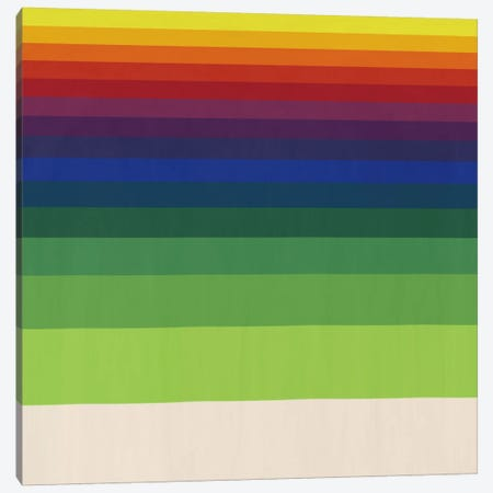 Modern Art- Striped Horizon Canvas Print #MA228} by 5by5collective Art Print