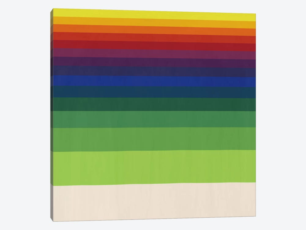 Modern Art- Striped Horizon by 5by5collective 1-piece Canvas Art