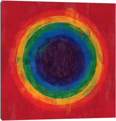 Modern Art- Rainbow Tunnel (After Suggs) Canvas Art Print