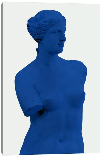 Modern Art - Venus de Milo Blue Canvas Art Print