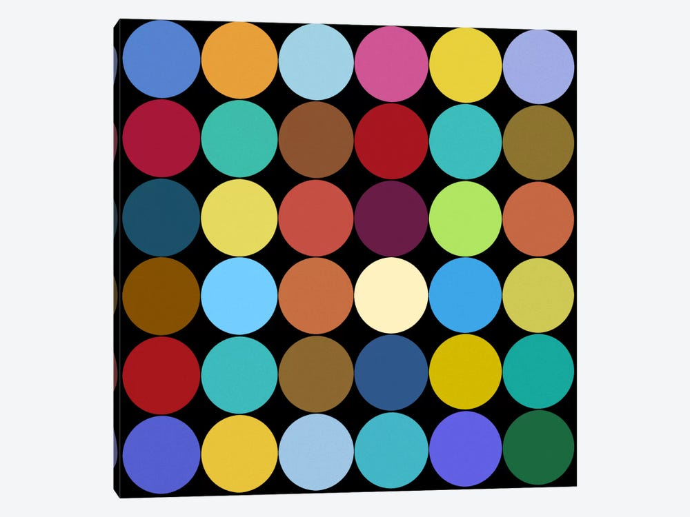 Modern Art- Dots Nine Colors by 5by5collective 1-piece Canvas Wall Art