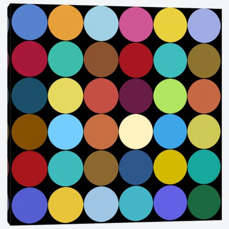 Modern Art- Dots Nine Colors 3-Piece Canvas #MA260} by 5by5collective Canvas Print