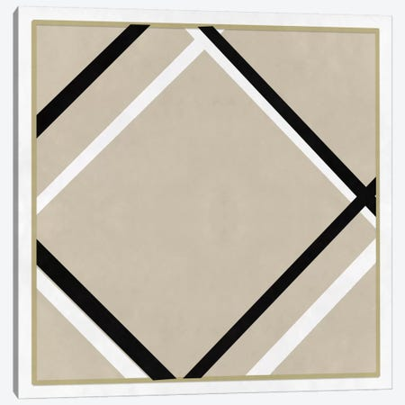Modern Art- Lozenge with Four Lines & Gray Canvas Print #MA277} by 5by5collective Art Print