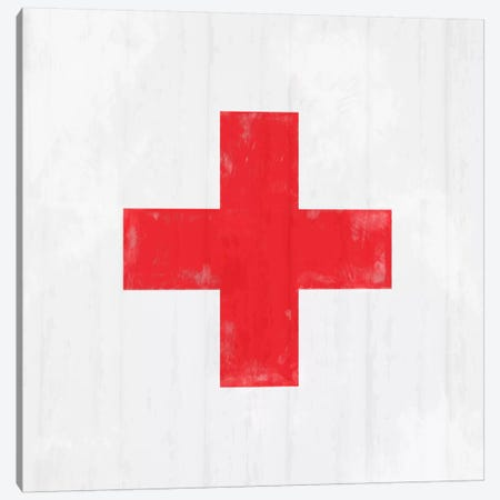 Modern Art- Red Cross Canvas Print #MA280} by 5by5collective Art Print