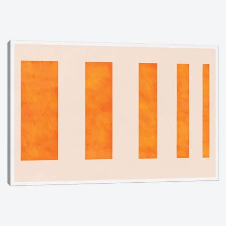 Modern Art - Orange Levies Canvas Print #MA281} by 5by5collective Art Print