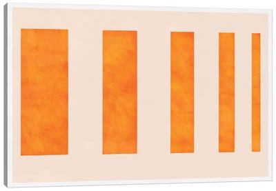 Modern Art - Orange Levies Canvas Print #MA281