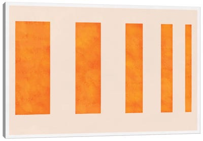 Modern Art - Orange Levies Canvas Art Print