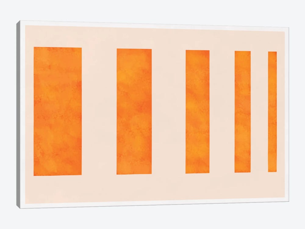Modern Art - Orange Levies by 5by5collective 1-piece Canvas Print