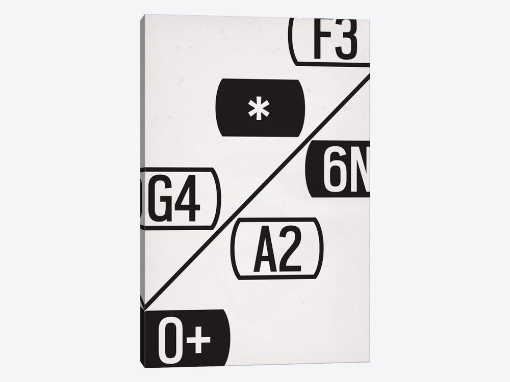 Modern Art- Schematic Typography by 5by5collective 1-piece Canvas Wall Art